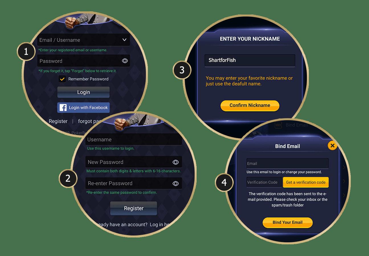 Register poker online free